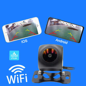 175° WiFi Wireless 12V Car Rear View Cam Backup Reverse Camera For Android IOS