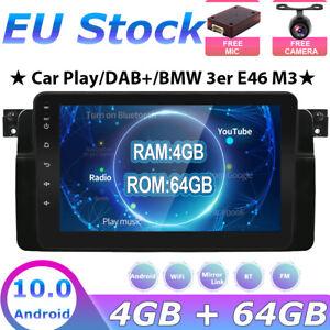 "For BMW E46 Android 10 Autoradio Player GPS SAT NAV Stereo 4G Radio Head Unit 8"""