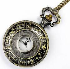 "32"" Necklace & 4cm D Chinese Zodiac Bronze Watch, Unisex Good Luck Birthday Gift"