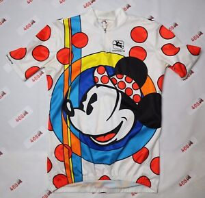 Disney Cycling Jersey Adult Large White Giordana Mickey