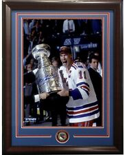Mark Messier signed 8x10 Trophy photo framed rangers coin auto Steiner Coa