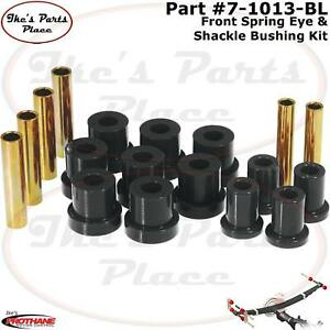 Prothane 7-1013-BL Front Spring Eye & Shackle Bushings 88-91 Blazer/Suburban 4WD