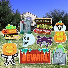 Joyin Halloween Outdoor Decorations, Corrugate Yard Stake Signs for 9 Pieces