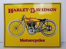 Harley-Davidson Motorcycles Yellow Metal Sign *Vintage Style*