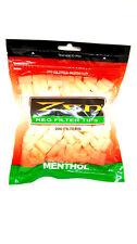 Zen Premium Menthol Regular Filter Tips 200 Pieces Resealble Bag  RYO Rolling