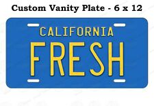 California State Fresh Prince Vintage License Plate Tag For Auto ATV Bike Moped