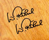 2x Walter Röhrl Aufkleber Sticker 5,5cm Unterschrift Autogramm S1 RS2 5 Zylinder