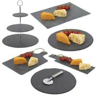 Slate Platters & Canope Tapas Plates Tray Boards Appetizer Dessert Buffet Gift