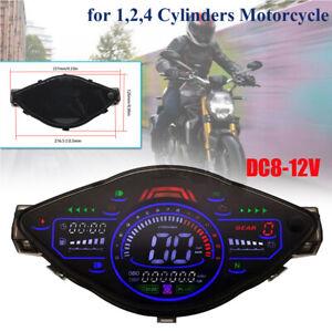 1,2,4 Cylinders Motorcycle Speedometer Odometer Tachometer RPM Speed Meter Fuel