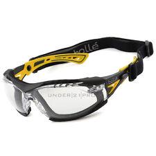 Gafas + equipo máscara RUSHPPSIY + RUSHKITFS Bollé Safety Rush+ amarillo PLATINO