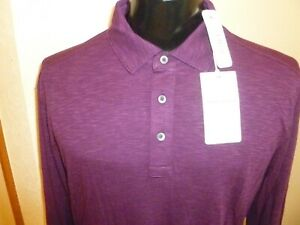 Tommy Bahama Mens La Jolla Cove Polo Shirt Long Sleeve RumBerry Size L Large New