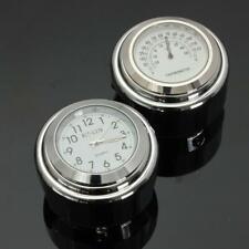 Montre Horloge Guidon et Thermomètre Pour Moto