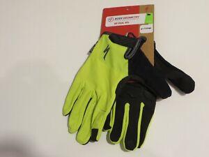 NEW! Specialized BG Dual-Gel Long Finger Men's Gloves Color Hyper Green Small