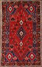 Tribal Hand-Made Wool Abadeh Area Rug NOMAD Oriental Vegetable Dye Carpet 6 x 9