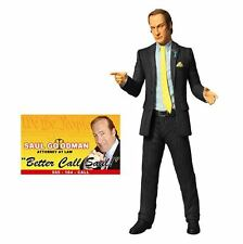 Mezco Breaking Bad Saul Goodman Blue Shirt figure. In hand