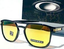 NEW* Oakley LATCH BETA Black POLARIZED PRIZM 24K Gold Prizm Sunglass 9436-04