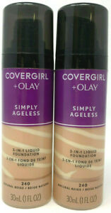 (2) Covergirl + Olay Simply Ageless 3-In-1 Liquid Foundation 240 - Natural Beige