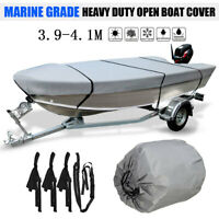3.9-4.1m Trailerable Heavy Duty Open Boat Cover Fishing Runabout Waterproof 210D