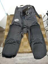 Rawlings Youth Medium Black Padded 7 Pad Football Pants #20
