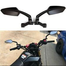 Black Motorcycle Rearview Side Mirrors for Honda Grom Kawasaki Suzuki Yamaha