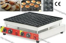 Commercial Nonstick Electric 100pcs Poffertjes Mini Dutch Pancake Machine Maker