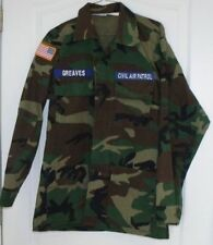 Vanguard Civil Air Patrol Woodland Camouflage Jacket W/Patches FREE SHIP