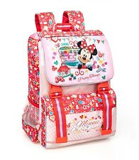 Disney Minnie Mouse Backpack Expandable Girls Rucksack Travel Holiday School Bag
