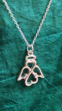 Modeschmuck-Halsketten & -Anhänger aus Metall-Legierung Schutzengel