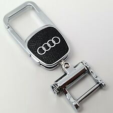 Audi Zinc Metal Key Ring Fob Chain Case Holder With Box Gift For Him Her