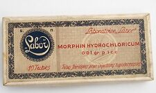ANTIQUE EMPTY LABOR MORPHINE CARDBOARD BOX MEDICAL GLASS VIALS DOCTOR 19C