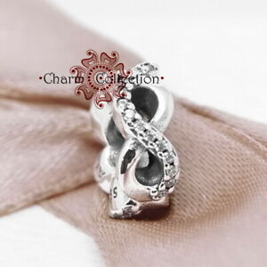 Pandora, S925 Infinite Love Spacer Bracelet Charm, NEW, 792101CZ