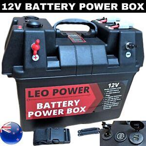 Portable Battery Power Box 12V Deep Cycle AGM SLA Camping Power Station USB LP90