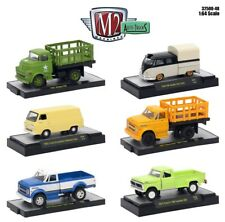 1:64 M2 Machines *AUTO-TRUCKS R48* = COMPLETE SET of 6 *1970 C60 F-100 VW Ford*