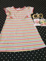 Gymboree Spring Happy Rainbow dress watch socks hair sunglasses 7