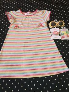 Gymboree Spring Happy Rainbow dress watch socks hair sunglasses 7