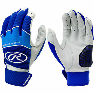 Rawlings Workhouse Adult Batting Gloves Blue/White Size XL WH950BG