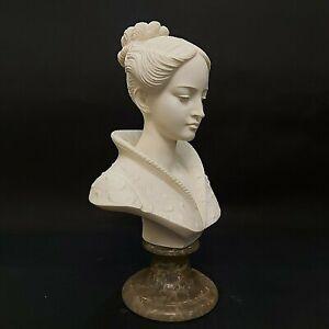 Vintage Egregia Arnoldo Giannelli Bust of a Woman Recomposed Stone Circa 1960's