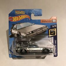 Hot Wheels 2019 Super Treasure Hunt Back To The Future Delorean Short Card