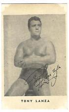 TONY LANZA Vintage Postcard Photo bodybuilder muscle Wrestling ORIGINAL SP *