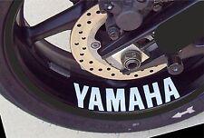 4x Yamaha YZF R1 R6 Mt FJR FZ FJ FZ6 Rueda Llanta Adhesivo Calcomanía Vinilo CUALQUIER COLOR