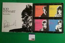 RARE- ROD STEWART SIGNED STORYTELLER 4 CD BOX SET WITH PHOTO PROOF & PSA/DNA COA