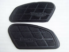 TRIUMPH 500 T100 650 TR6 T120 GAS TANK KNEE PAD RUBBER GRIP SET BONNEVILLE TIGER