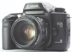 Ex+5 Canon EOS 55 35mm SLR Film Camera w/ 50mm F/1.8 II For Canon EF From JAPAN