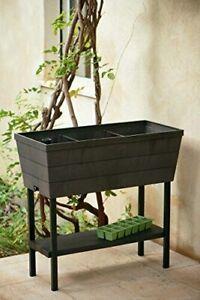 Urban Bloomer 32.3 in. W x 30.7 in. H Brown Resin Raised Garden Bed