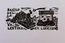 Ex Libris di montagna Remo Wolf non comune