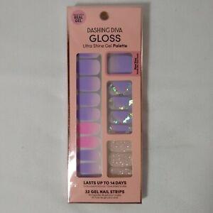 Dashing Diva Gloss Ultra Shine Gel Nail Strips 32 Strips - Berry Fine GS104