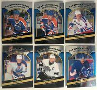 Complete Set 2017-18 O-Pee-Chee Platinum Platinum records Mcdavid Gretzky Oilers
