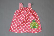 Girls Next Age 4 5 Pink Spotty Light Weight Cotton Top Blouse Ladybird Pocket