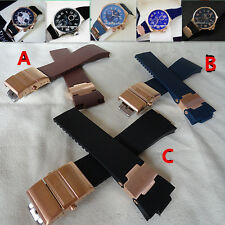 12*26mm 10*22mm For ULYSSE NARDIN MARINE DIVER Silicone Rubber Watch Strap Band