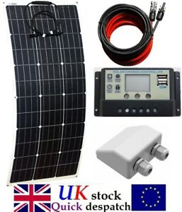 80w to 150w Flexible Solar Panel kit c/w LCD Controller 2 x USB & cable inlet